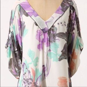 Anthropologie | Black Orchid Kimono Sleeve Top